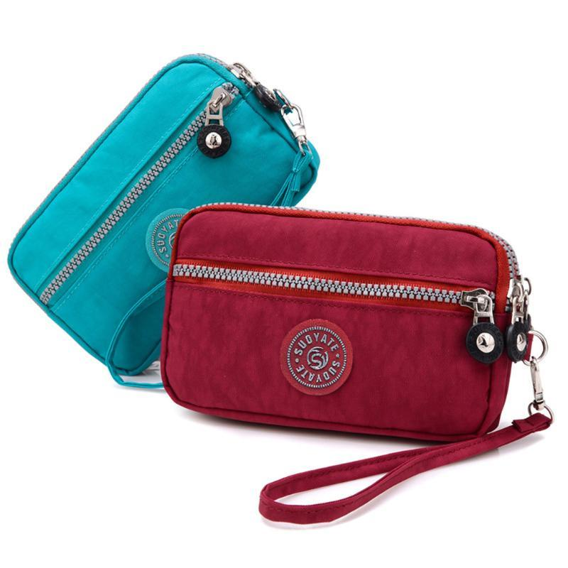 women's wallet High capacity Waterproof Solid Colors Coin Purse Mobile Phone Bags Long Wallet Wristlet money bag cartera mujer