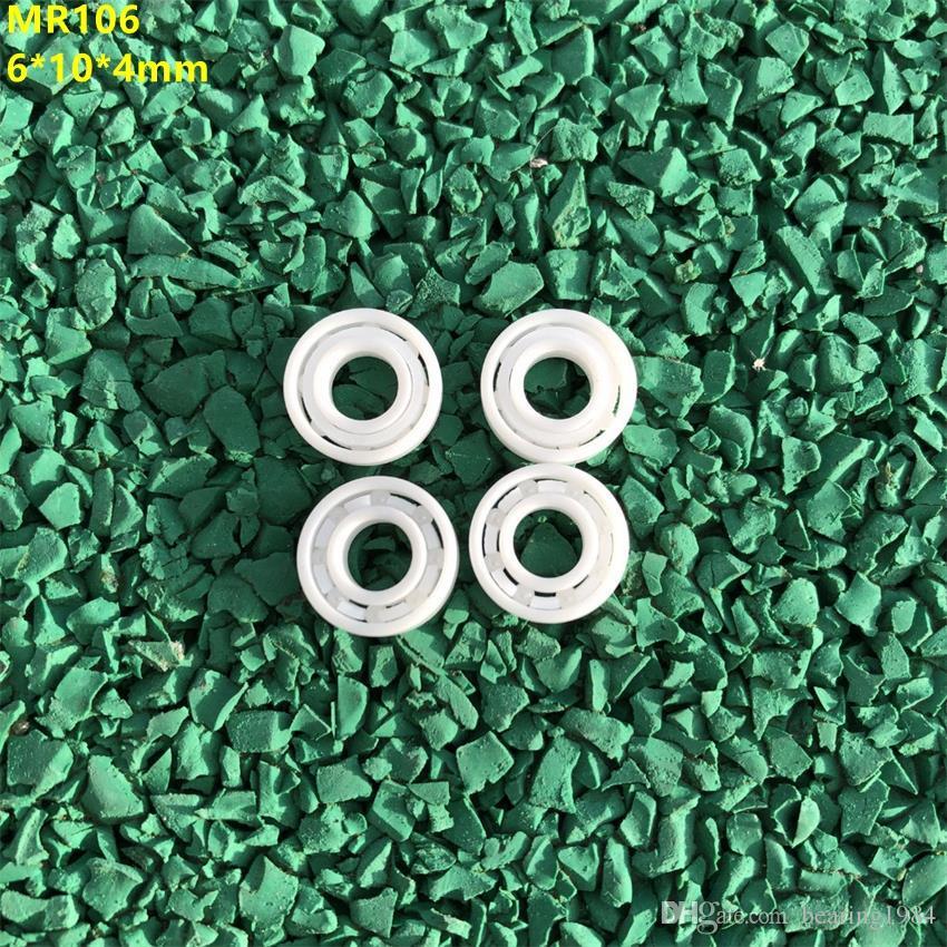 4pcs/lot MR106 full Ceramic ball bearing 6x10x4 mm Zirconia ZrO2 Ceramic bearings 6*10*4 mm
