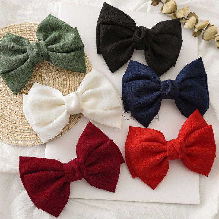 Девушки банты зажим для волос бутик аксессуары для волос дети двойные банты галстук принцесса заколки 6 Цвет дети день рождения бантом заколки F826