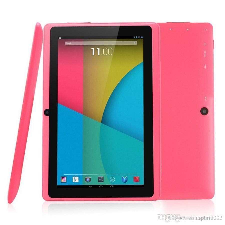 Q88 7 Inch Android 4.4 Tablets PC ALLwinner 8GB ROM 1GB RAM Cheap A33 Quade Core Dual Capacitive tablets High Quality