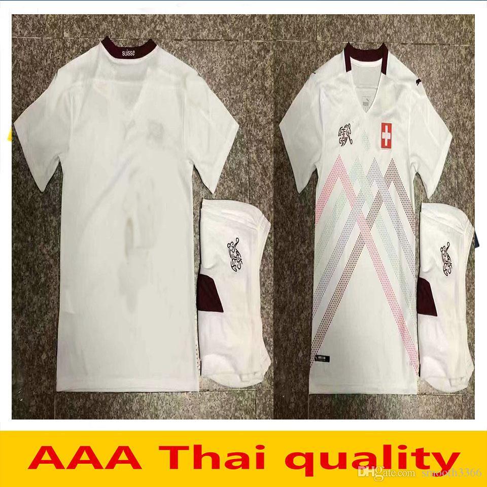 Suisse Suiza 2020 camisetas de fútbol de los cabritos blancos ausentes 20 21 Suiza Akanji Zakaria Rodriguez camisetas de fútbol