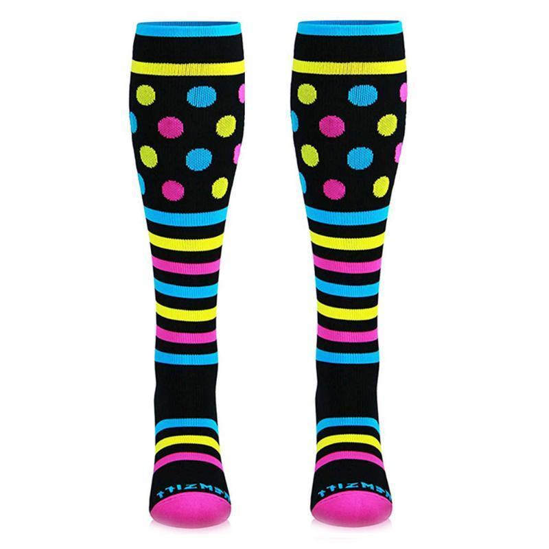 Chaussettes de sport unisexe jambe de soutien en nylon extensible Chaussettes Performance Sports en cours