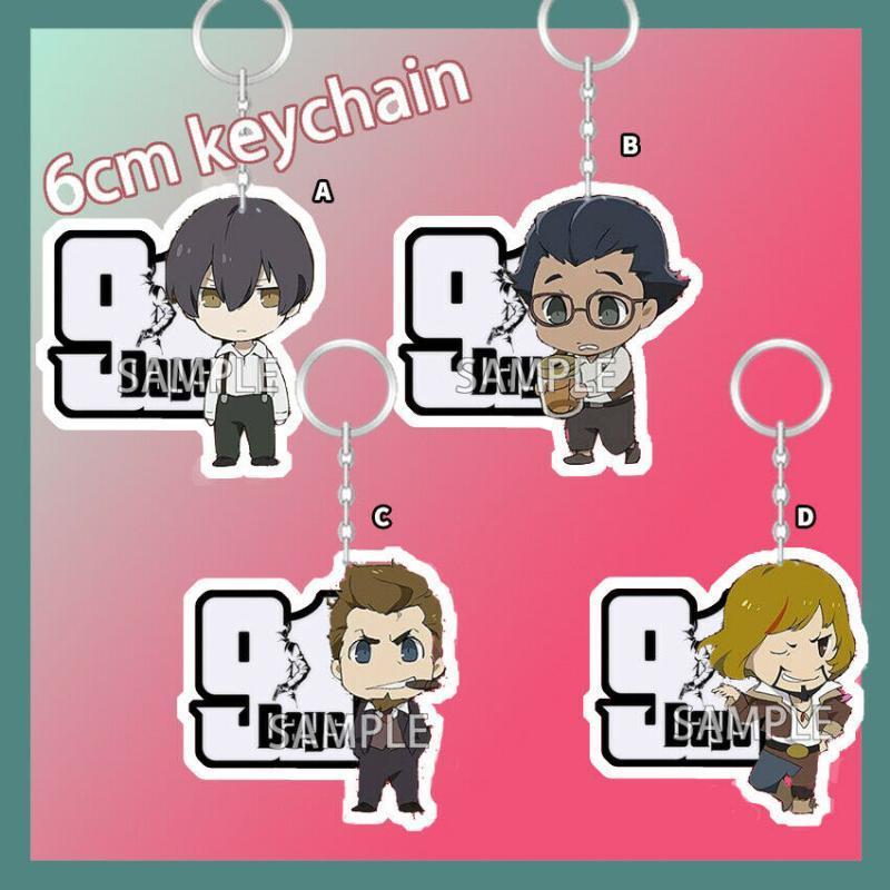 Acrílico Keychain Chaveiro Strap Anime 91 dias Lagusa Angelo Nero Duplo seis centímetros Sided