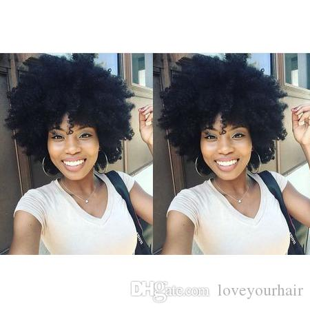 beauty new hairstyle woman's soft natural brazilian Hair African Americ short curly wig Simulation Human Hair bob kinky curly wigs for lady