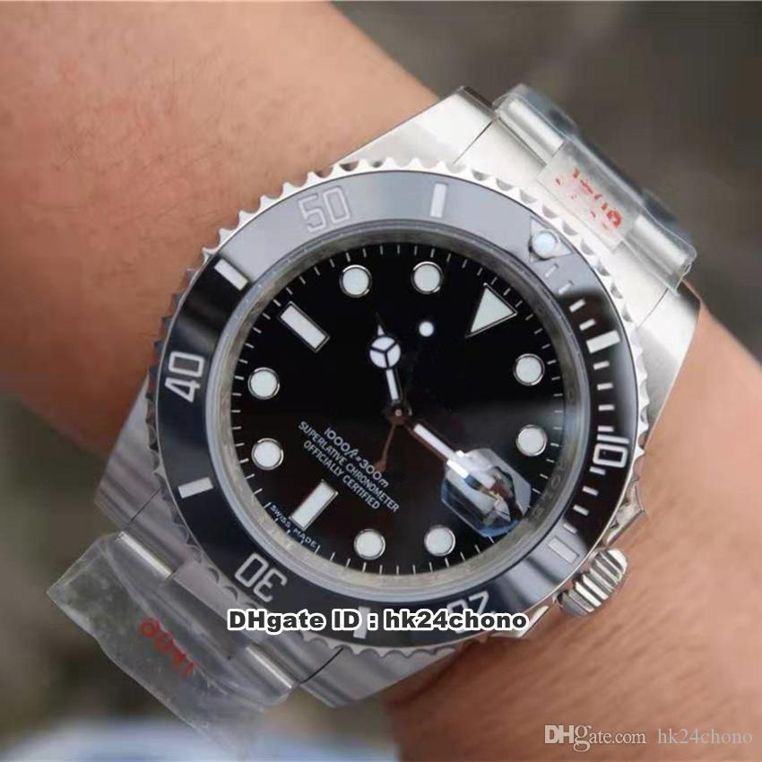 Mejor relojes N V9 40mm Fecha suiza Cal.3135 Autoamtic Movimiento del reloj para hombre 116610 Cerámica Bisel Negro Dila 904L correa de acero relojes para caballero