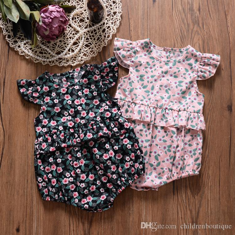 2019 Newborn Baby Girls Floral Romper Jumpsuit Outfits Infant Clothes Summer Baby Girl Romper Kids Clothes Girls Children Clothing