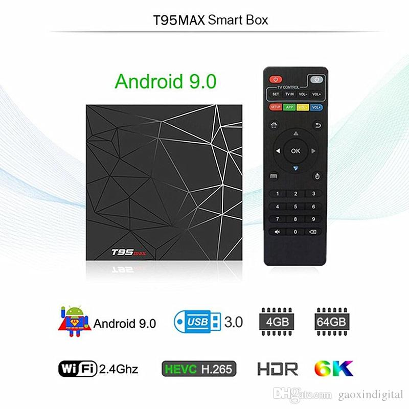 T95 Max Android 9.0 TV Boxes Allwinner H6 quad core 4G 32G/64G support 6K Ultra HD smart tv media player