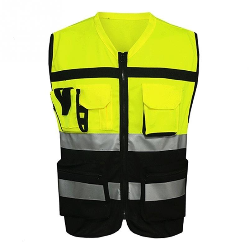 Quality Security Visibility Reflective Vest Construction Traffic//Warehouse New