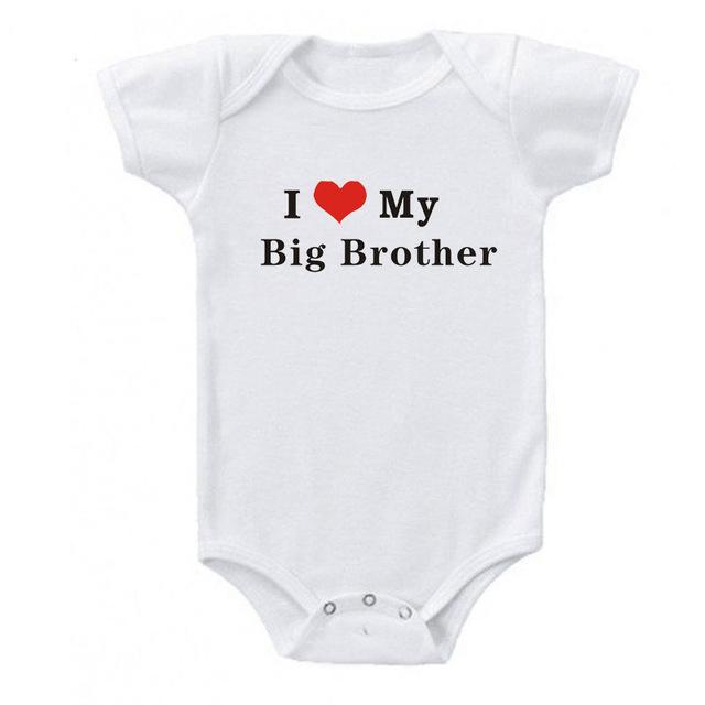 100% Cotton I Love My Big Brother Baby Rompers Baby Boy Girl Clothes Cotton Infant Baby Suits Newborn Clothes 0-24M