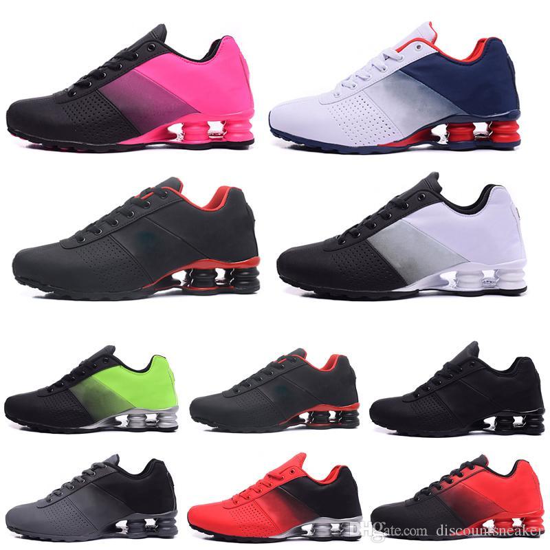 Nike shox 809 Erkekler Koşu Ayakkabıları Muticolor Altın Kırmızı Sıcak satış Kadınlar Mens TESLIM OZ NZ Atletik Eğitmenler Spor Sneakers 36-46
