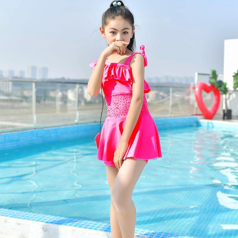 Traje de baño para niños Rhyme Lady Traje de baño 2021 Niños Monokini Niños Traje de baño One Piece Summer Beachwear Swim Girls Vestido de impresión