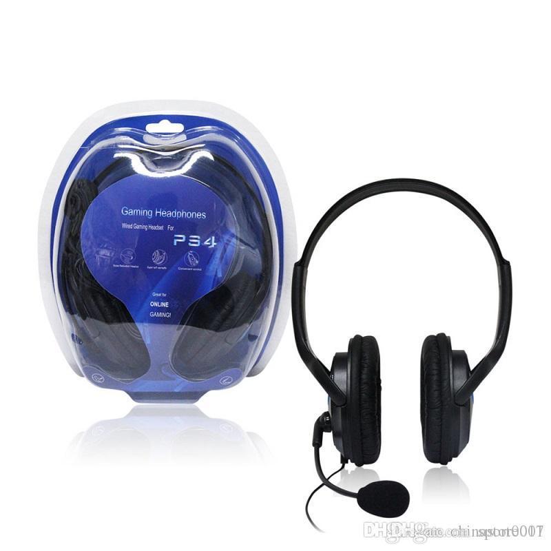 لأجهزة الكمبيوتر المحمول 3.5MM PS4 السلكية الألعاب سماعة سماعة رخيصة PlayStation4 سماعة لعبة سماعات مع هيئة التصنيع العسكري للكمبيوتر PC