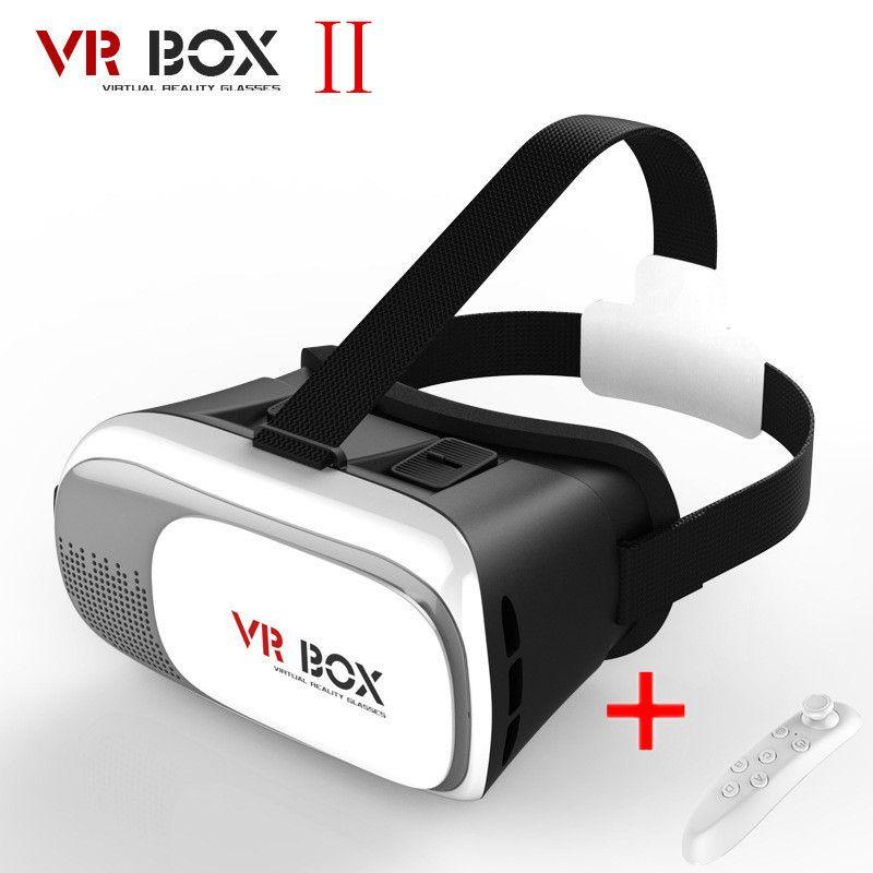 VR Kutusu 2.0 Gamepad Sanal Gerçeklik 3D Gözlük Kask Smartphone Için VR KUTUSU Kulaklık 3.5 inç 6 inç