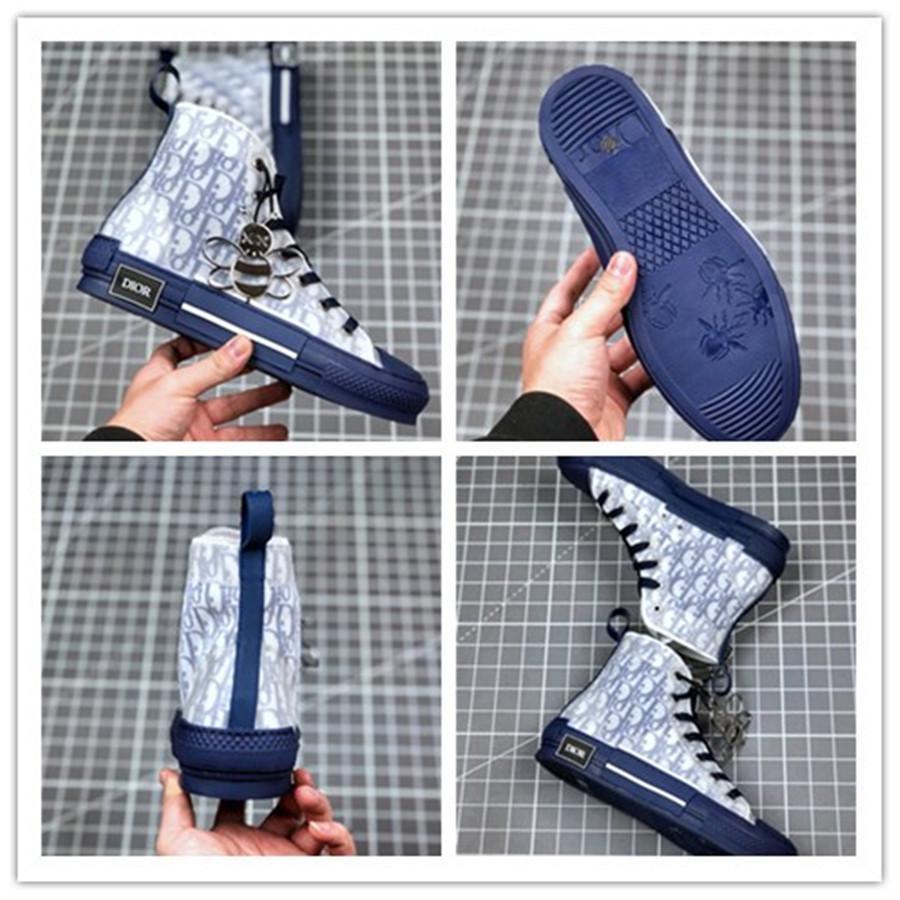 2020 plataforma de la vendimia Nueva lona de las flores Técnica B23 top del alto de las zapatillas de deporte baja en oblicuo para hombre B24 manera de las mujeres patea los zapatos casuales