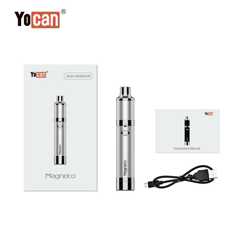 Yocan Magneto Kit 1100mAh Battery Magnetic Coil Cap Built-in Silicone Jar Ceramic Coil Wax Vape Dab Pen Starter Kits