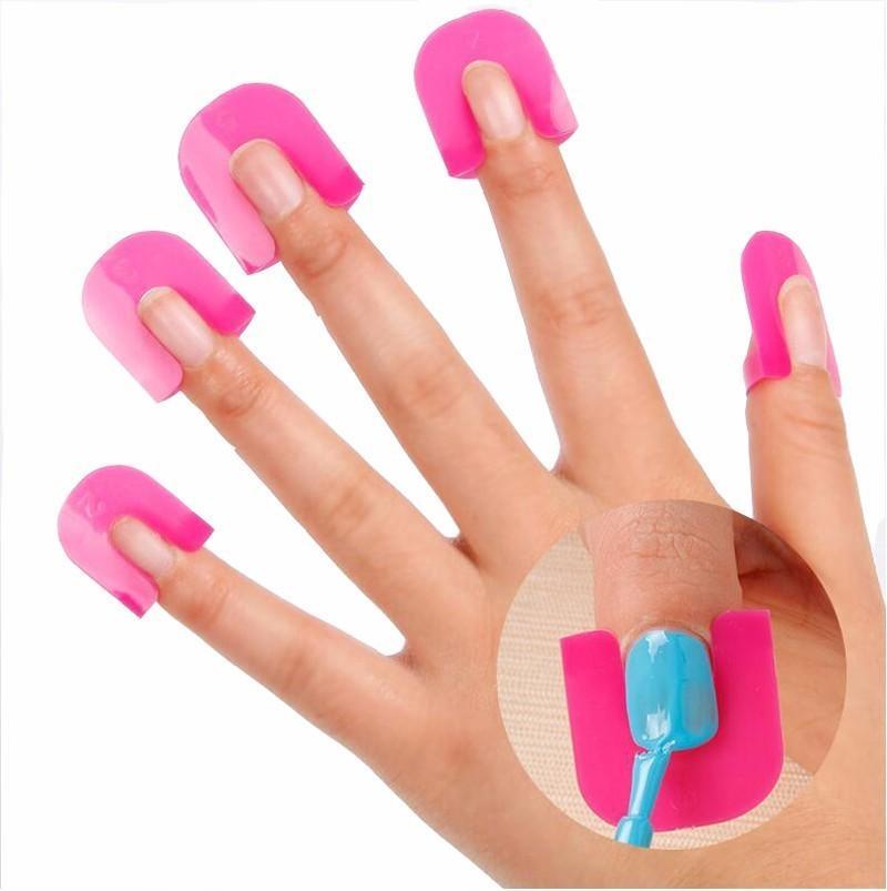 Bittb 1 компл. Лак для ногтей лак протектор держатель маникюр палец дизайн ногтей советы советы крышка инструменты уф-гель дизайн ногтей SH190724