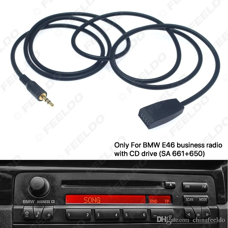 Adattatore cavo da 3,5 mm Car maschio Jack di ingresso AUX Solo per BMW E46 Con Business CD Radio Headunit # 6254