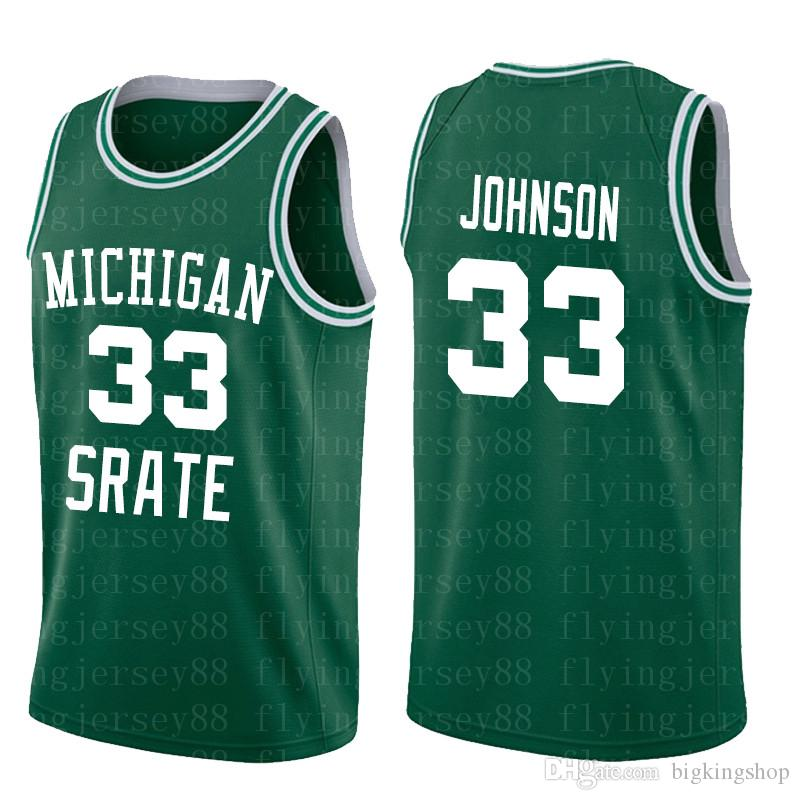 NCAA Michigan State Spartans 33 Earvin Johnson Magia atacado baratos frete grátis 2020