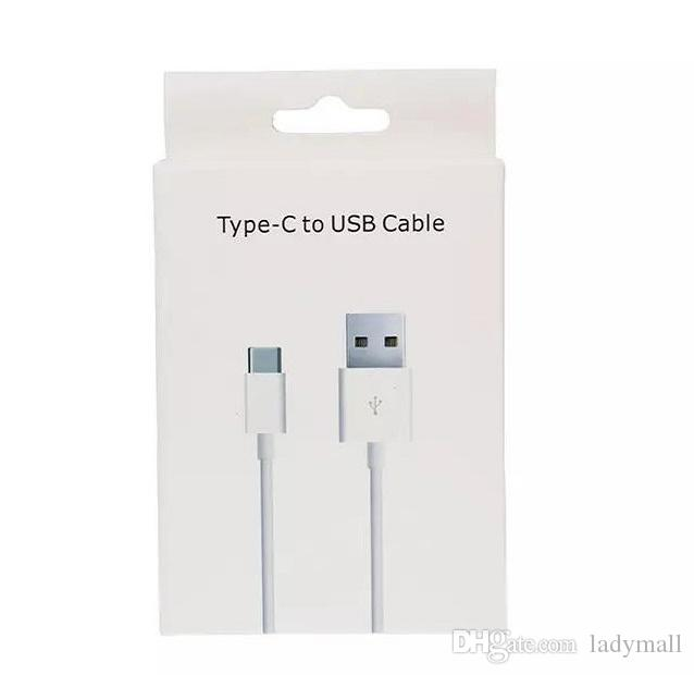 Type-C USB Charger Cable for Samsung S7 S8 S9 S10 Galaxy Note 7 8 9 Huawei P LG G5 Type C 2A Adapter Charging V8 Phone Cord with Retail Box