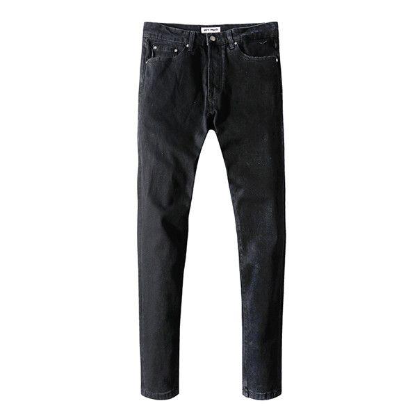 ceza baskılı pantolon erkeklerin ağrı sıska kot moda tasarımcısı ince motosiklet motosiklet bisiklet erkekler ~ C2 kaplıdır