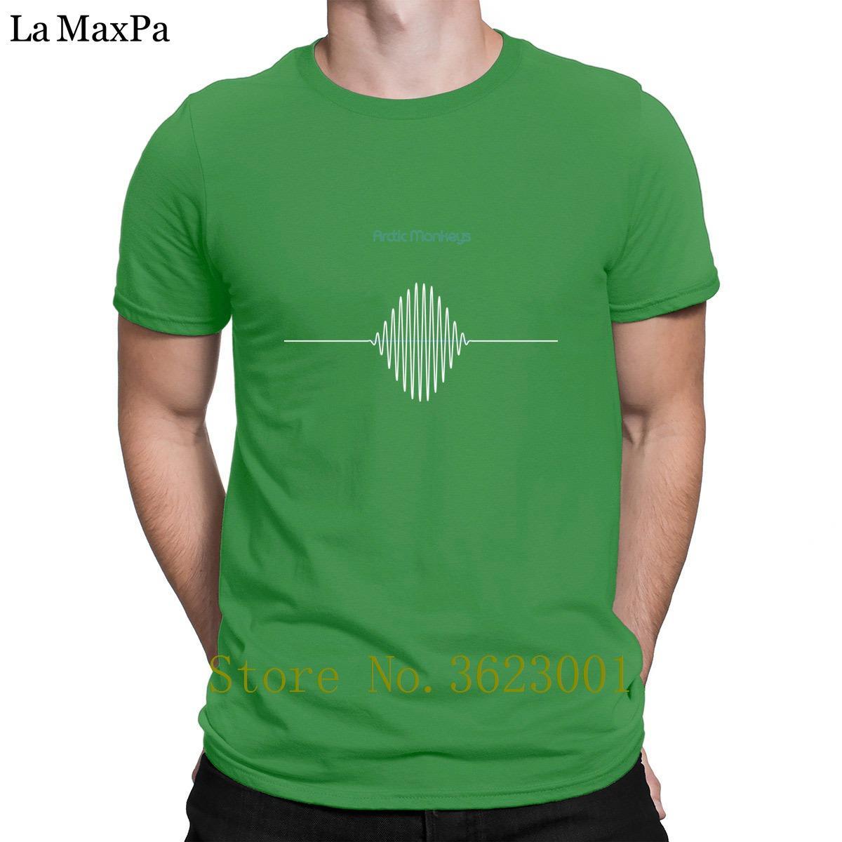 Personalizado letra Camisetas Arctic Monkeys dos homens T Shirt Summer Style T-Shirt Authentic divertimento camiseta Hip Hop Crew Neck