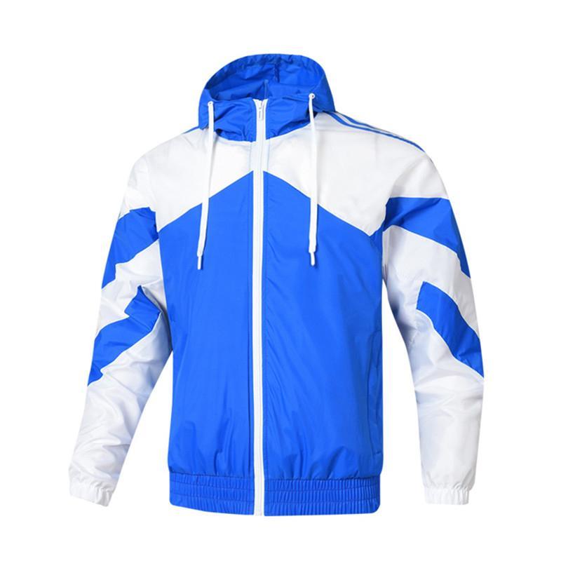 Oturum | Erkek LuxuryDesigner Ceket Kapüşonlular WINDBREAKER Patchwork Spor Ceketler Coats Koşu Ceket Üst Kalite L-4XL Giyim XA 2022605V