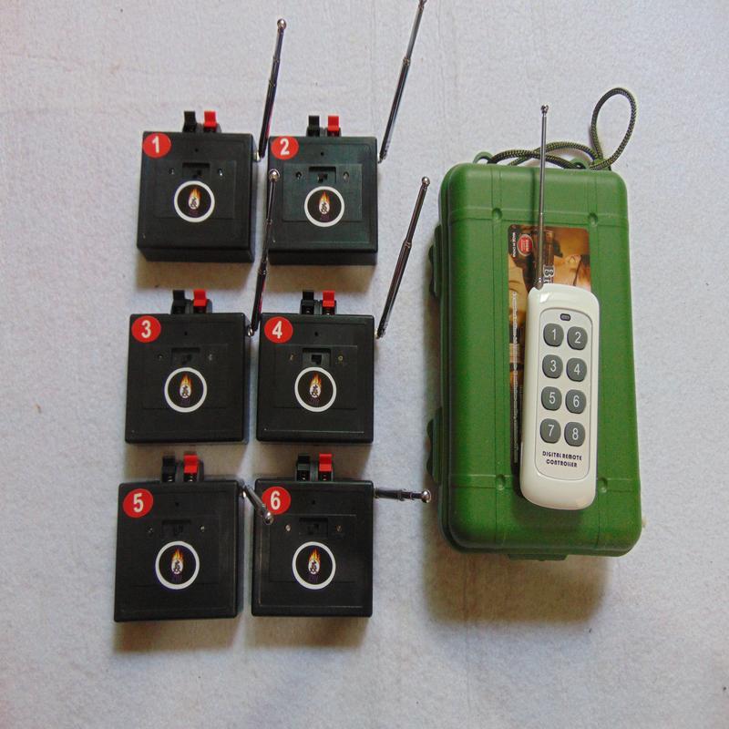 6 Cues Feuerwerk Zündung-System Festive Schießen Mittler Fernwasserdicht controlle Taste genuinet Elektronische Notschalter Drahtlose