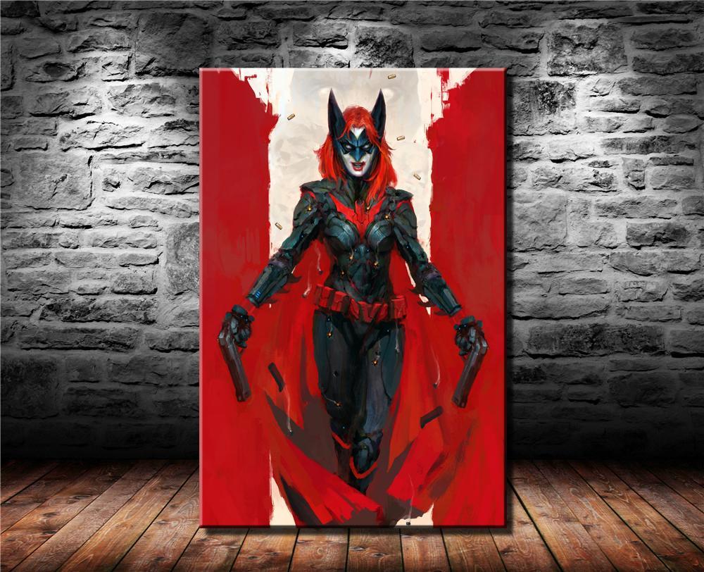 Mujer murciélago, impresión en lienzo HD Nueva decoración del hogar, pintura de arte / (sin marco / enmarcada)