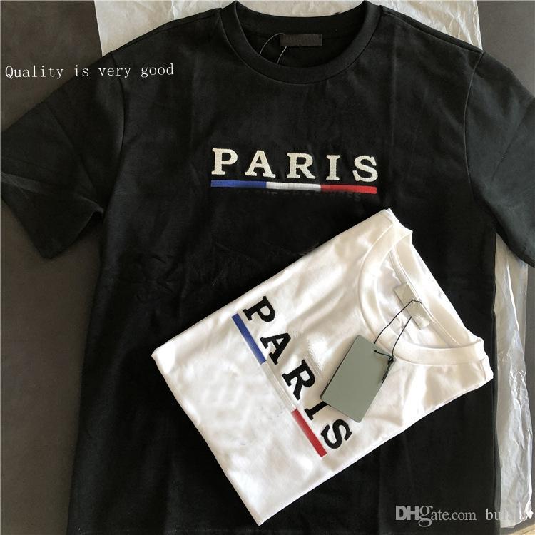 2020 Casais New Style 270g Bordados Mens T Shirt Casual Rua Man Youth Fashion Street solto Esporte Tamanho UE do vintage camisetas