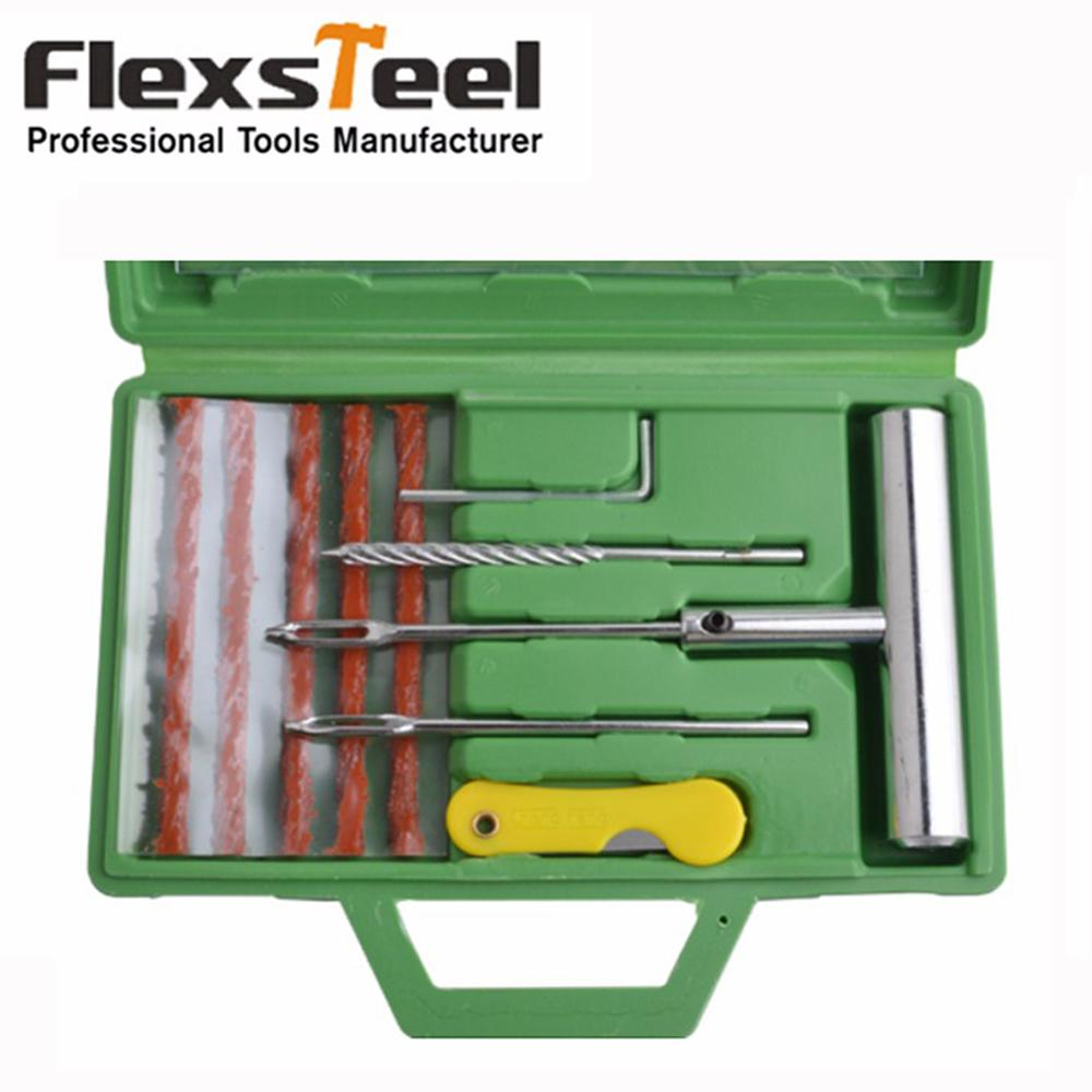 Tools 10Pcs/Set Auto Car Bike Tire Repair Tool Kit In Box Bicycle Tubeless Tyre Repair Tools Vehicle Wheel Tire Puncture Mending Set