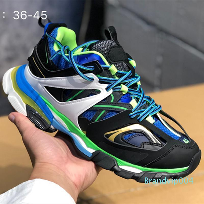 Pista Masculina Tess S Paris gomma maille preto Para as mulheres Triple S Clunky Sneaker calçados casuais Quente Autêntico sapatos Designer