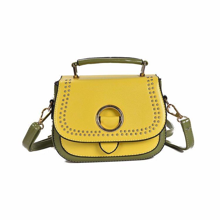 Fashionable solid color rivet small square bag 2020 Korean version of the new wild high-grade shoulder messenger bag wholesale