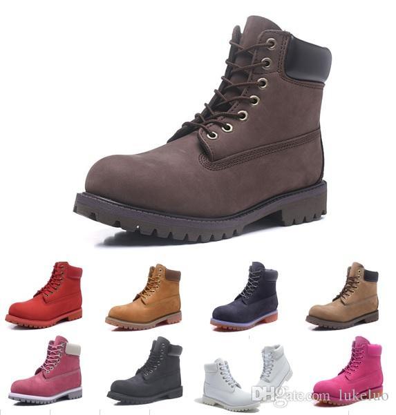 2019 bottes vente chaud hommes et femmes designers bottes de l'Armée bleue et des bottes d'alpinisme de camouflage triple marron chaussures habillées avec boîte
