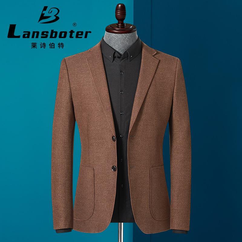 Erkekler Blazer 2020 İlkbahar ve Slim Genç ve orta yaşlı Suit Sonbahar Yeni Erkek Takım Elbise Kore Sürüm Casual Tek Batı