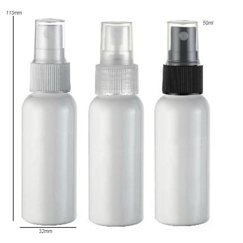 30 x 50 ml Parfum New Fashion Whitel bouteille en plastique 50cc Mist Pulvérisateur en plastique Atomiseur