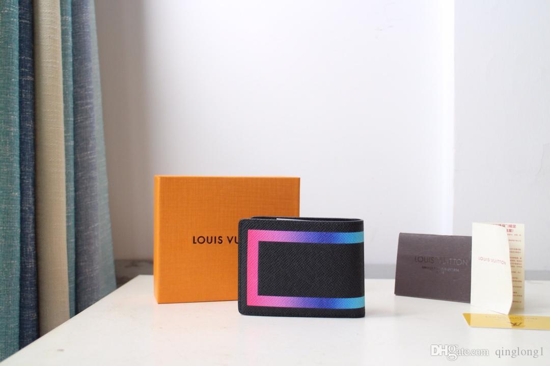Cüzdan 249. 2020 Klasik Stil Moda Stil Cüzdan Çeşitli Renk Seçimleri Depolama Kredi Kartı ve Para Erkekler Cüzdan Ücretsiz Yük + Kutu