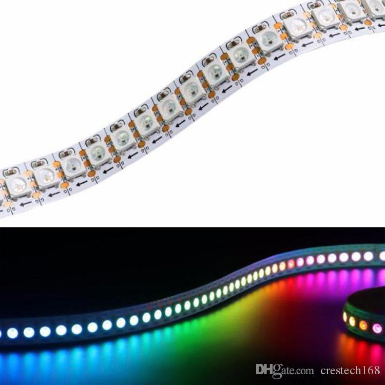 WS2812B 개별적으로 주소 RGB LED 유연한 스트립 빛 5050 SMD IP30 / IP65 방수 DC5V 화이트 / 블랙 PCB