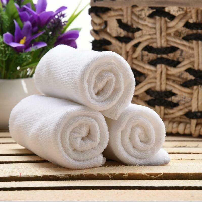 30 * 70 cm saf beyaz katı havlu mikrofiber emici kuru temizleme duş banyo havlusu otel ev ücretsiz kargo XD22819