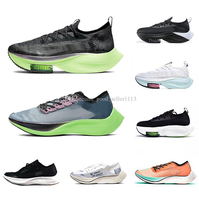 zoomx Stock X 2020 Alphafly Lime Blast zoom VaporFly NEXT% Mens Running shoes Ekiden Valerian Blue Ribbon Sail pink Men Women Sports Designer sneakers