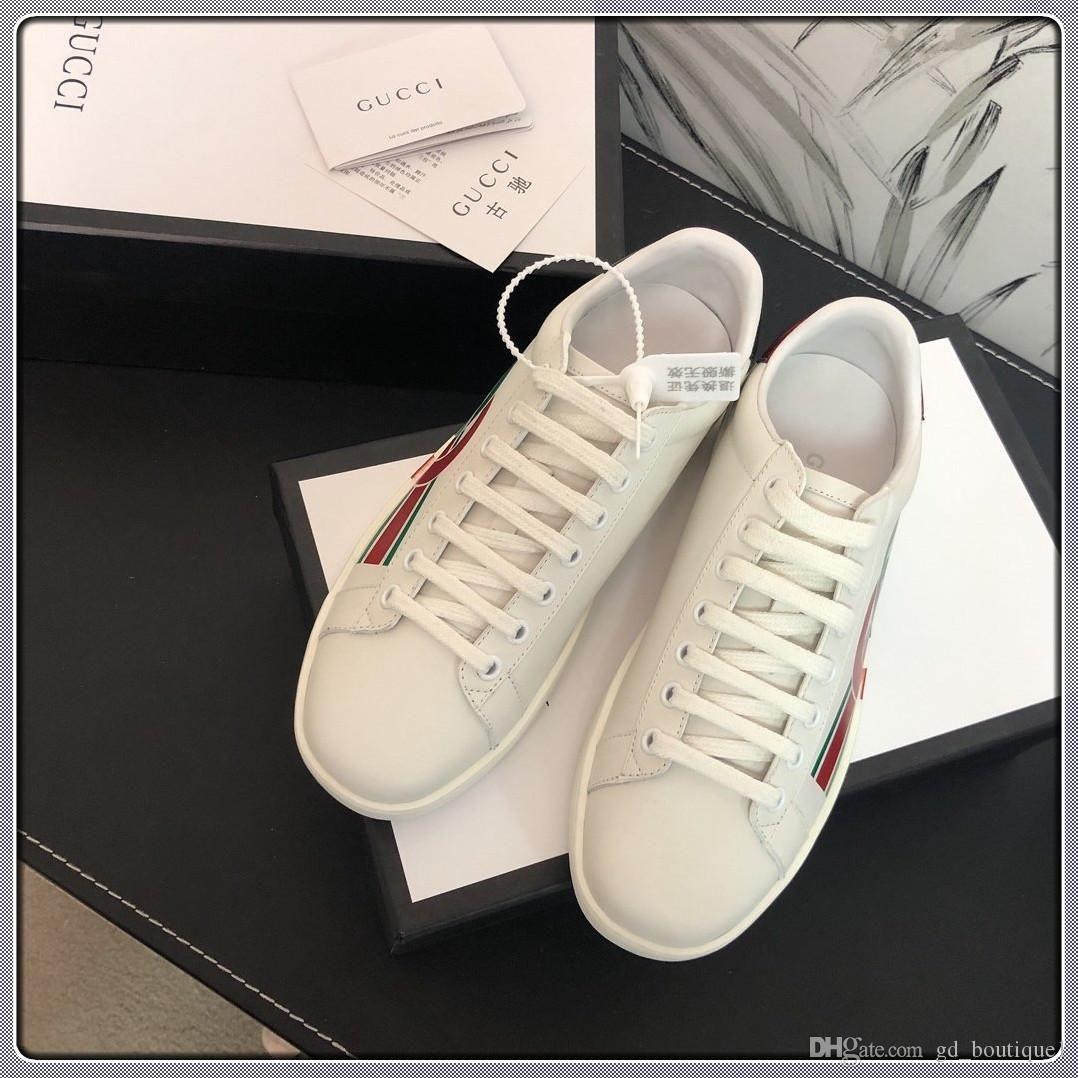 2020 Yeni Erkek Kadın Casual Luxury Moda Spor Eğitmenler Yumuşak Sneakers Zapatos de hombre Erkekler Kadın Ayakkabı Boyutu 35-45 Ayakkabılar