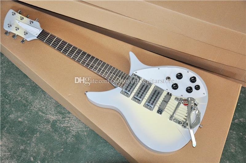 527mm Kısa Ölçeği Uzunluk Tremolo Bridge, Gülağacı ile 3 Pikaplar Elektro Gitar, özelleştirilebilir