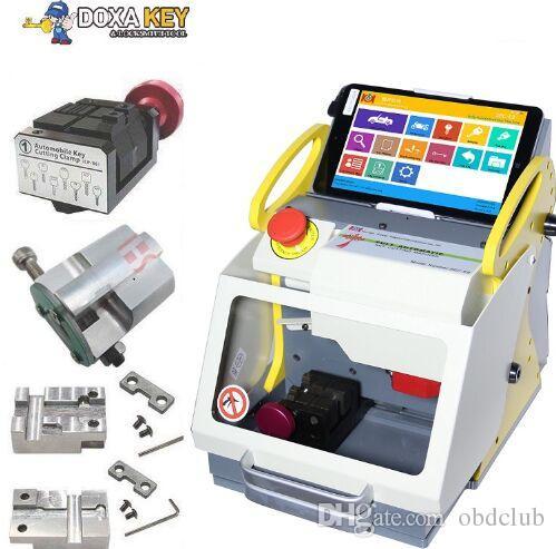 Mejor 2019 Multi-Language Full Clamps SEC-E9 Máquina de corte con llave láser Mejor que Slica Auto Key Machine CNC Cerrajería