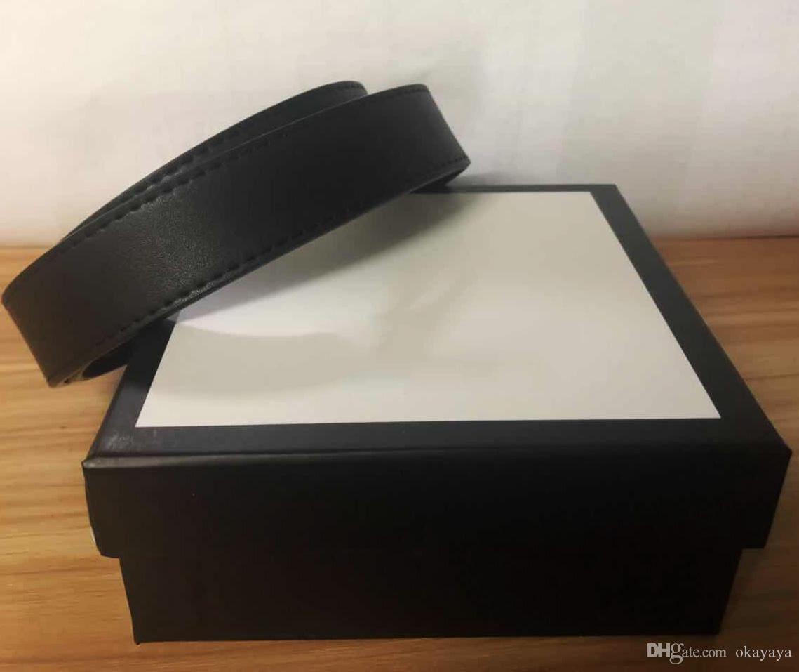 Gürtel Männer Frauen-Gurt-Frauen echtes Leder-Schwarz und Weiß Farbe Rindledergurt für Herren-Gürtel mit Box