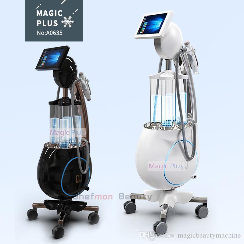 2019 최고의 가격 얼굴 미용 장비 기계 이드 라 기계 Dermabrasion 진공 RF 초음파 냉각 깊은 청소 및 스킨 케어
