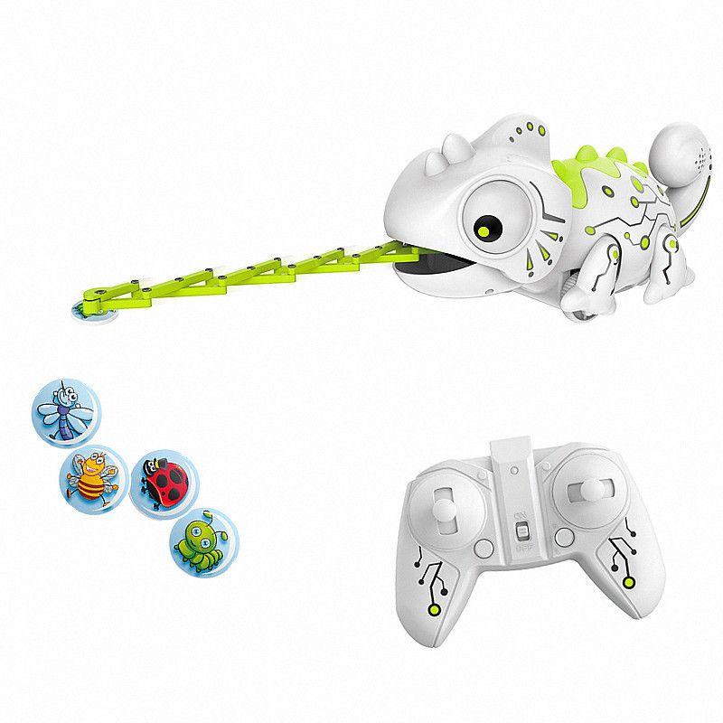 원격 RC 카멜레온 도마뱀 애완 동물 2.4 G 지능형 장난감 로봇 어린 아이 생일 선물 재미 있은 장난감 제어 파충류 동물 MX200414