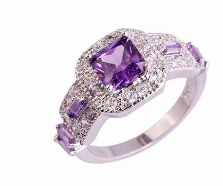 2 шт./лот прекрасный низкая цена высокое качество Алмаз crysltal 925 серебряный леди кольцо размер 6----10ug 6.5 fgtyttr