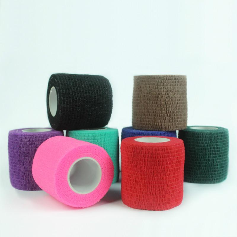 Tek kullanımlık Kendinden yapışkanlı Elastik Bandaj Dövme Aksesuarlar Rastgele Renk x1 Of Tüp Sıkma ile Saplı için