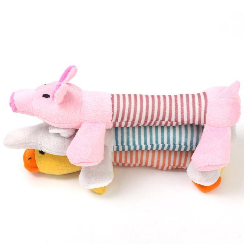 Плюшевые игрушки для собак Puppy Pet Toy Chews Squeaky Duck Elephant Популярные несколько стилей Прекрасный 3 9lc