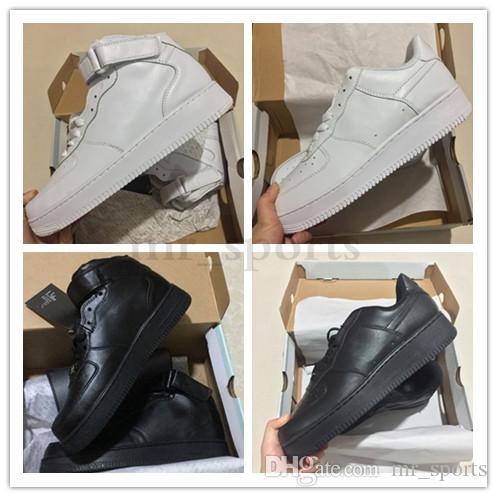 NIKE Air Force 1 Leather AF1 En Yeni forcd erkekler ucuz kadın düşük kesim bir unisex deri rahat ayakkabılar 1 mens örgü 2019 tasarımcı ayakkabıları TH99 womens