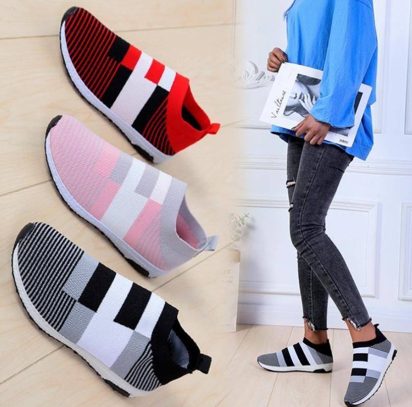 Мода высокое качество Женская обувь плюс размер 35-43 кроссовки Женские плоские туфли дышащие кроссовки повседневная zapatos de mujer